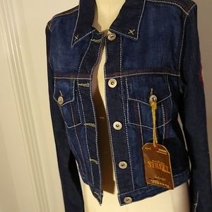 Vintage style denim jacket by Street Denim.